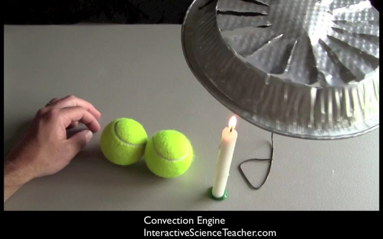 Use tennis balls to illustrate how air molecules move when they're heated and convection begins